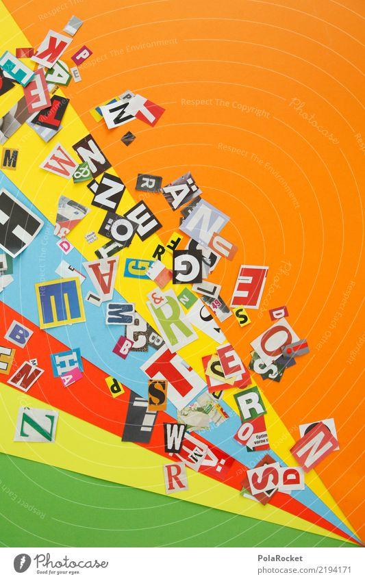 #AS# Kreativität Kunst Kunstwerk Handel Idee Inspiration Grafik u. Illustration orange Buchstaben Typographie viele graphisch Grafische Darstellung Wort Sprache