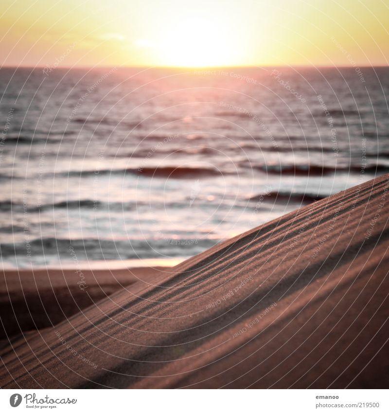 endless summer Natur Wasser Sonne Meer Sommer Strand Ferien & Urlaub & Reisen Ferne Freiheit Wärme Sand Landschaft Küste Wellen gold