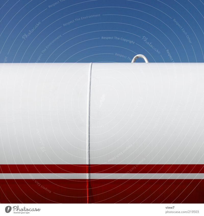 Der Haken an der Sache Himmel weiß rot Linie Metall elegant Energiewirtschaft modern ästhetisch neu Güterverkehr & Logistik authentisch einfach dünn Streifen