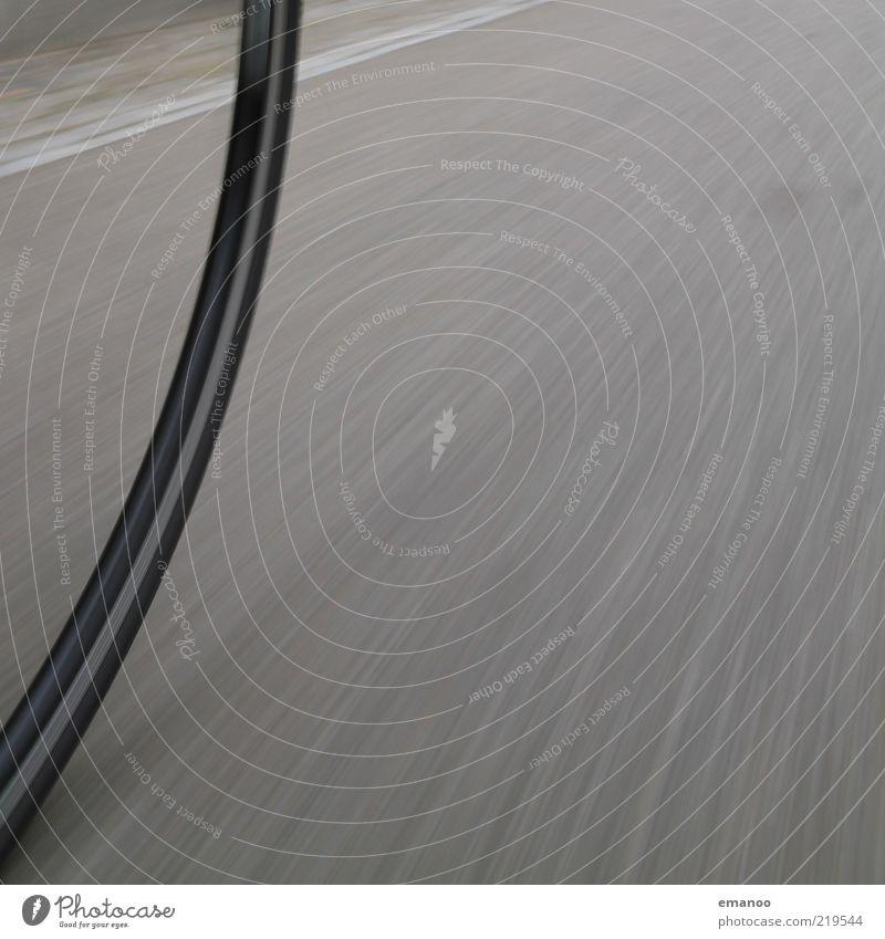 full speed Freizeit & Hobby Ausflug Sport Fahrrad Rennbahn Verkehrsmittel Verkehrswege Straße Bewegung drehen rund Geschwindigkeit grau Mobilität Perspektive