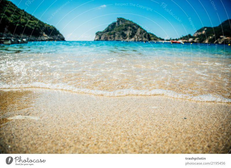 Korfu Ferien & Urlaub & Reisen Sommer Wasser Sonne Meer Ferne Strand Tourismus Freiheit Sand Felsen Ausflug gehen Wellen Lächeln genießen