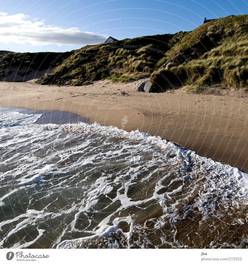 Rhytmus Natur Wasser Himmel Meer Sommer Strand Ferien & Urlaub & Reisen ruhig Haus Ferne Herbst oben Sand Landschaft Küste