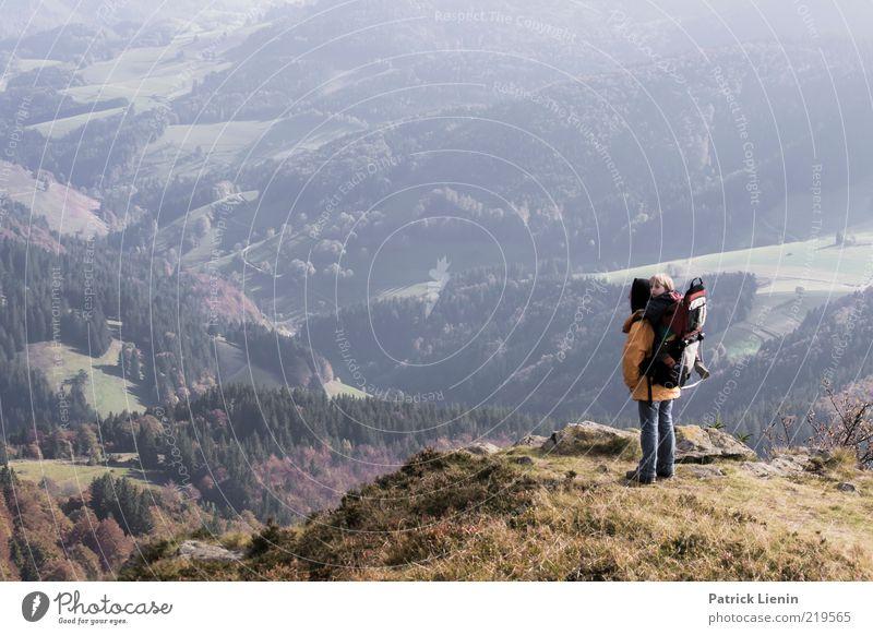 Blue Ridge Mountains Frau Mensch Kind Natur Baum Pflanze Ferien & Urlaub & Reisen Ferne Erholung Herbst Berge u. Gebirge träumen Familie & Verwandtschaft