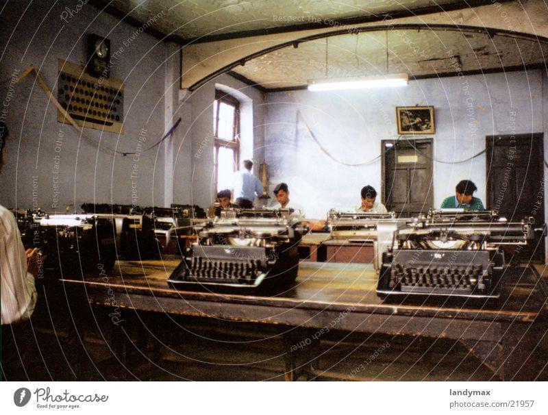 schreibmaschinenschule Schule Verkehr lernen Nepal Indien Bildung Schreibmaschine Himalaya Tippen