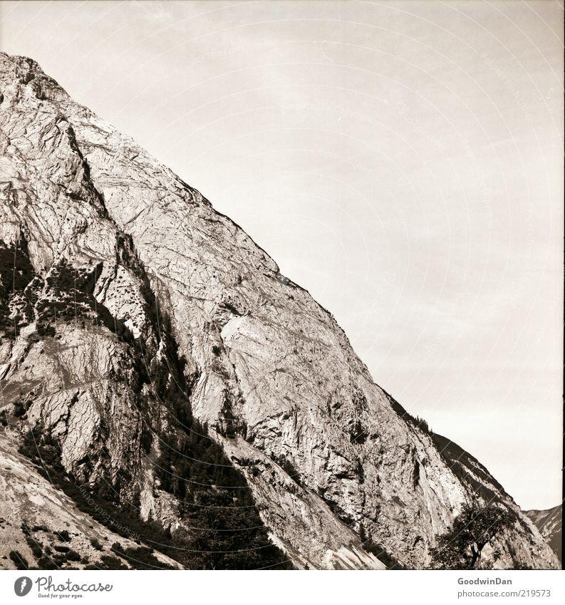 Regards to Mr. Adams... II Himmel Natur Umwelt Berge u. Gebirge hell groß außergewöhnlich ästhetisch authentisch gut Urelemente einfach diagonal Berghang steil