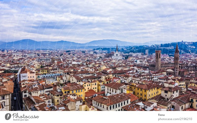 Florenz Stadt Haus Kirche Gebäude Italien Landschaft Dach Tourismus Architektur tuscany