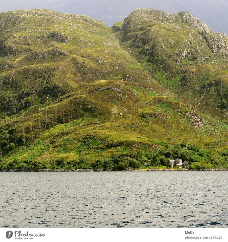 Versteckte Orte Natur Wasser Meer grün Ferien & Urlaub & Reisen Berge u. Gebirge grau Landschaft Küste Umwelt groß Felsen Reisefotografie natürlich Hügel Bucht