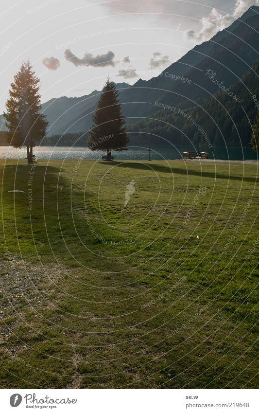 Schatten ........ | Antholz [14] Himmel Sommer Herbst Schönes Wetter Baum Gras Wiese Alpen Berge u. Gebirge Antholzer Tal Südtirol Antholzer See Seeufer Strand