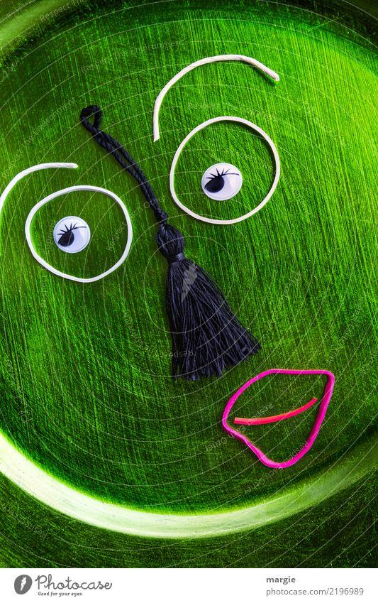 Emotionen...coole Gesichter: Schlafmütze! Teller Freizeit & Hobby Medienbranche sprechen maskulin feminin androgyn Auge Mund 1 Mensch Kunst Künstler Kunstwerk