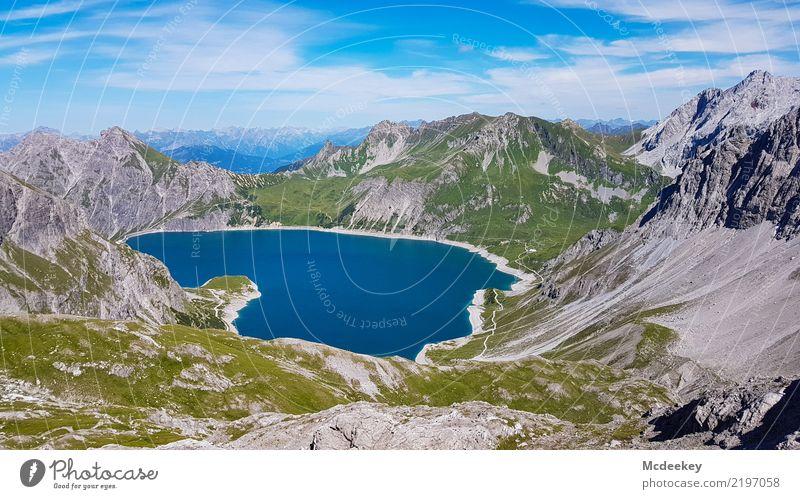 <3 - lich Willkommen in den Bergen Natur Pflanze blau Sommer grün weiß Sonne Landschaft Wolken Ferne Berge u. Gebirge schwarz Wärme Umwelt natürlich Gras