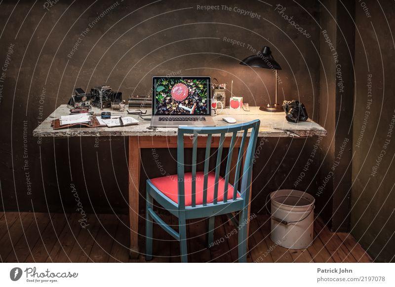 Vintage Workspace Lifestyle Innenarchitektur Stil Arbeit & Erwerbstätigkeit Wohnung Häusliches Leben Büro Dekoration & Verzierung Internet Möbel Fotokamera