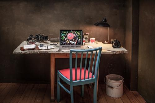 Vintage Workspace Lifestyle Stil Wohnung Innenarchitektur Dekoration & Verzierung Möbel Schreibtisch Arbeit & Erwerbstätigkeit Büroarbeit Arbeitsplatz