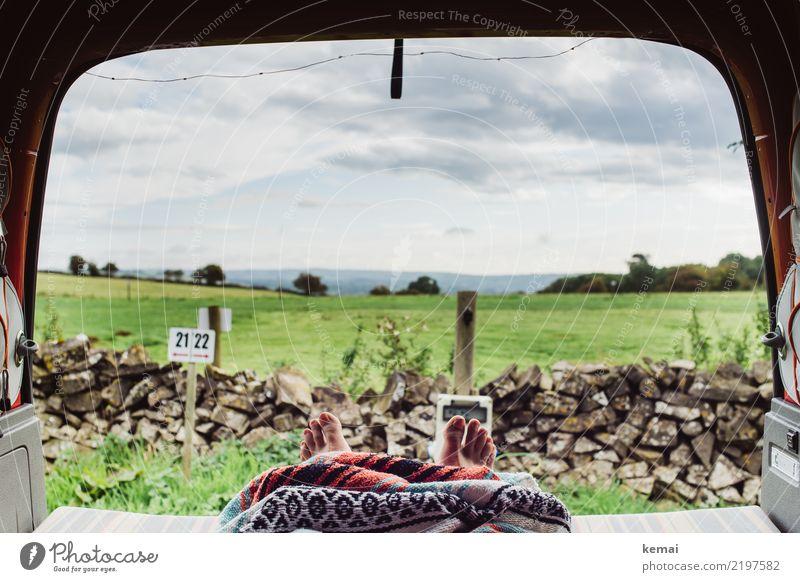 Camplife Lifestyle harmonisch Wohlgefühl Zufriedenheit Sinnesorgane Erholung ruhig Freizeit & Hobby Ferien & Urlaub & Reisen Ausflug Abenteuer Freiheit Camping