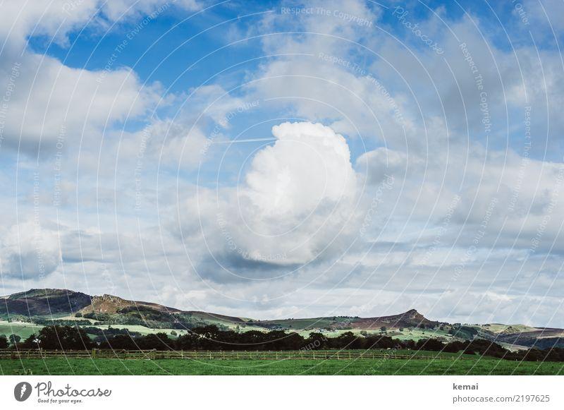 """Felsformation """"The Roaches"""" Himmel Natur Ferien & Urlaub & Reisen Sommer blau schön grün Landschaft Erholung Wolken ruhig Ferne Tourismus Freiheit Felsen"""
