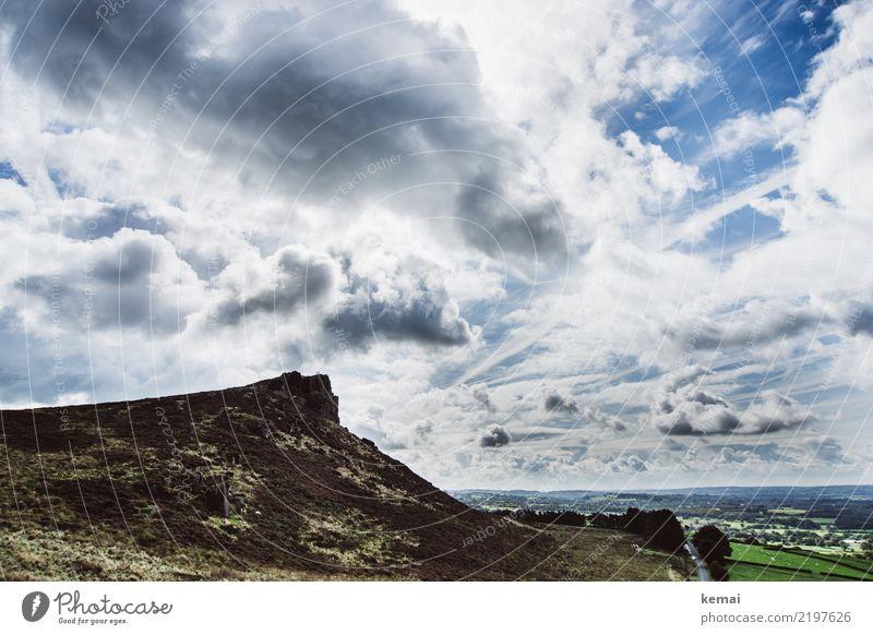 The Roaches: Wolkenshow Himmel Natur Ferien & Urlaub & Reisen Sommer grün Landschaft ruhig Ferne Freiheit Felsen Ausflug Zufriedenheit Freizeit & Hobby Feld