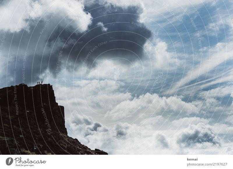 Wolkenpracht Lifestyle harmonisch ruhig Freizeit & Hobby Ausflug Abenteuer Ferne Freiheit Mensch 3 Natur Landschaft Himmel Sommer Schönes Wetter Felsen