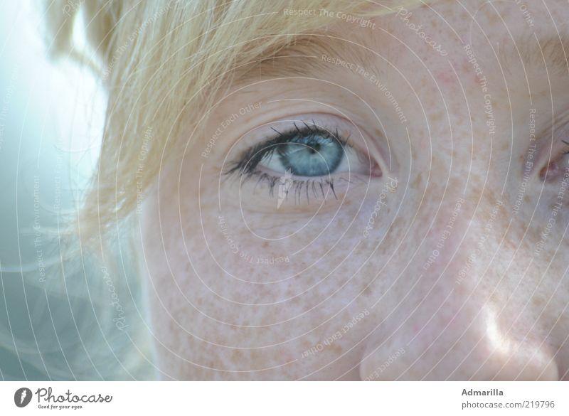 Himmelblau Mensch feminin Junge Frau Jugendliche Haut Kopf Gesicht Auge Nase 1 Schönes Wetter entdecken Blick außergewöhnlich blond Coolness gut hell schön