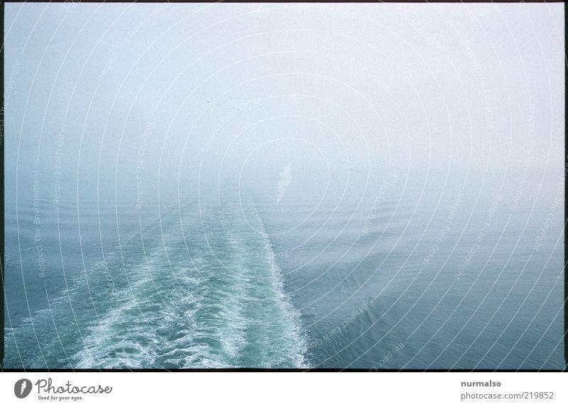 weg aus dem Nebel Ausflug Kreuzfahrt Meer Winter Umwelt Natur Urelemente Wasser Klima schlechtes Wetter Wellen Ostsee Schifffahrt Passagierschiff Fähre dunkel