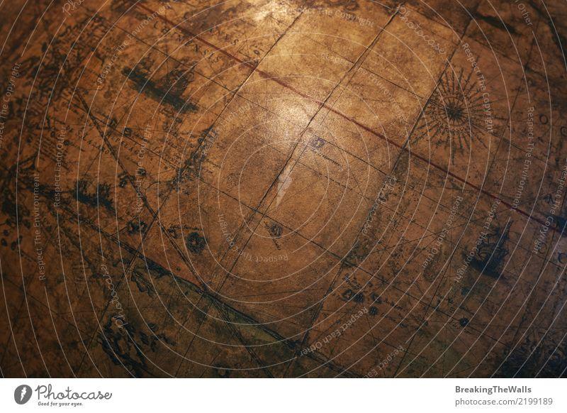 alt dunkel Hintergrundbild Schule Erde braun retro historisch entdecken Neigung Bildung Landkarte Wissenschaften altehrwürdig Globus diagonal
