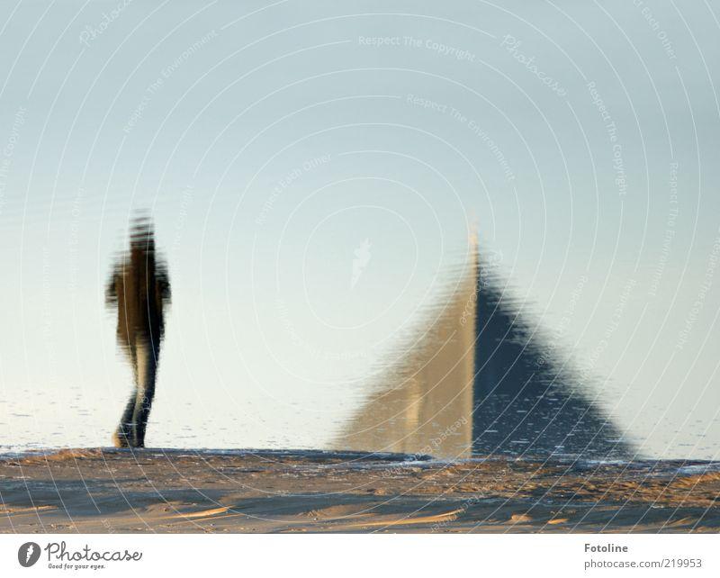 Ägypten??? Mensch Natur Wasser Strand Sand Küste gehen Umwelt laufen nass Erde Spaziergang Spitze Urelemente Ostsee Dreieck