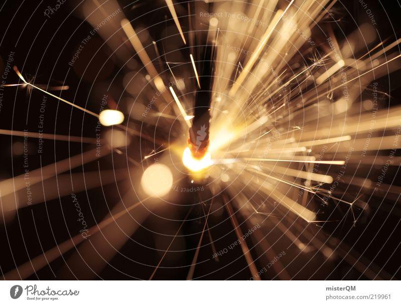 Wunder. Kunst ästhetisch einzigartig elegant exotisch Inspiration Kitsch zündend explosiv Explosion gefährlich heiß extrem Wärme brennen Wunderkerze Funken