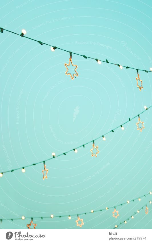 Lichterkette Weihnachten & Advent Winter Lampe Beleuchtung Stern (Symbol) Elektrizität Technik & Technologie Kabel Kitsch Dekoration & Verzierung leuchten