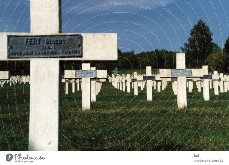 Kriegsgraeber Frankreich Weltkrieg Verdun Grab Soldat Friedhof Grabmal Christliches Kreuz Soldatenfriedhof Tod Trauer historisch erinnern
