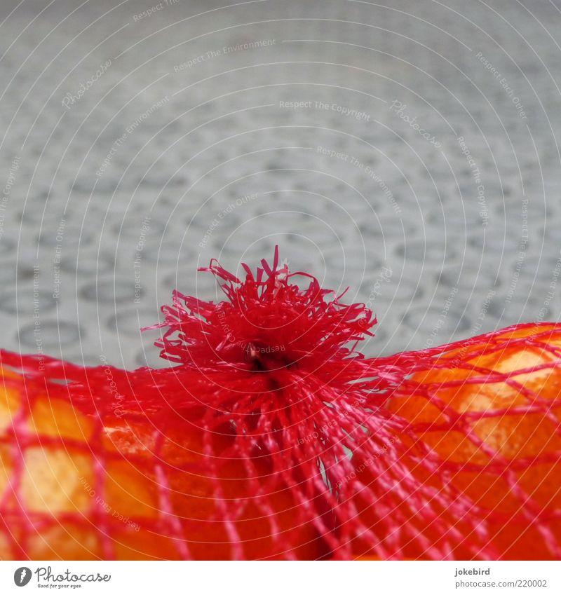 Netzstrumpf für Orangenhaut rot grau Lebensmittel orange Frucht Netz Vegetarische Ernährung Zitrusfrüchte Mandarine Orangenhaut