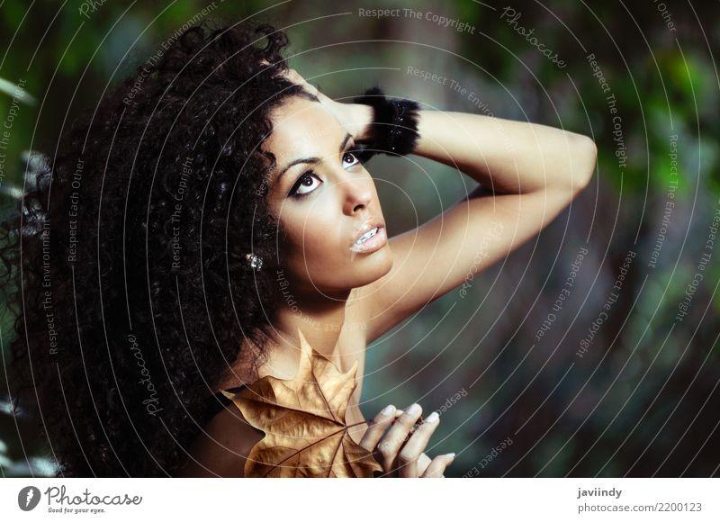 Frau Mensch Jugendliche Junge Frau schön dunkel 18-30 Jahre schwarz Gesicht Erwachsene feminin Haare & Frisuren Mode braun Körper frisch