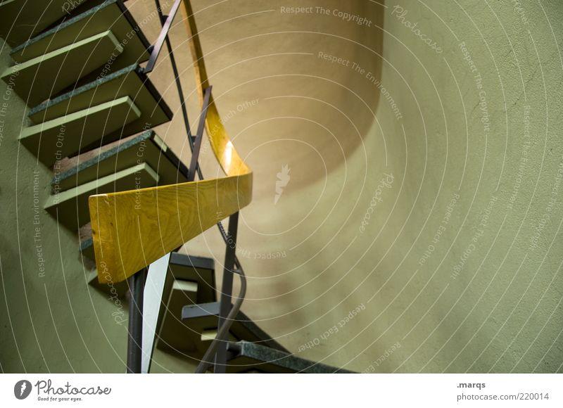 Stiege Holz Architektur Design elegant Lifestyle Perspektive Treppe Häusliches Leben Innenarchitektur außergewöhnlich Geländer Karriere Treppengeländer