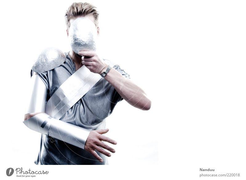 you will be assimilated Mensch kalt Metall glänzend maskulin Maske außergewöhnlich anonym Außerirdischer verdeckt außerirdisch technisch Roboter Spielzeug Studioaufnahme Rüstung