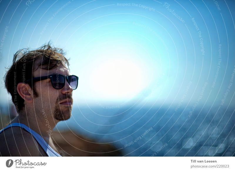 Liberté Wasser Ferien & Urlaub & Reisen Sommer Strand Meer Gesicht Ferne Freiheit Haare & Frisuren Luft Wetter Wellen Horizont Behaarung Lifestyle Bucht