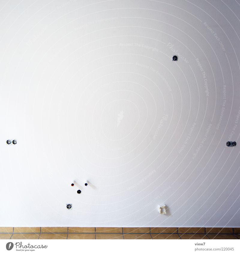 Medien Anschluss weiß Ferne Wand Stein Farbstoff Mauer Ordnung neu Küche authentisch Innenarchitektur Fliesen u. Kacheln Freundlichkeit Handwerk Renovieren Putz