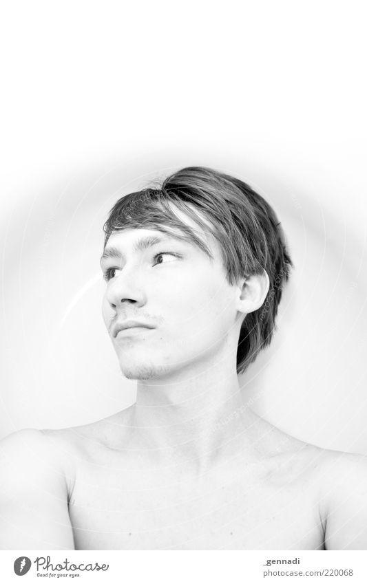 Zwischenwelt Mensch maskulin Junger Mann Jugendliche Erwachsene Haut Kopf Haare & Frisuren 1 18-30 Jahre frei frisch Originalität Sauberkeit dünn schön Gefühle