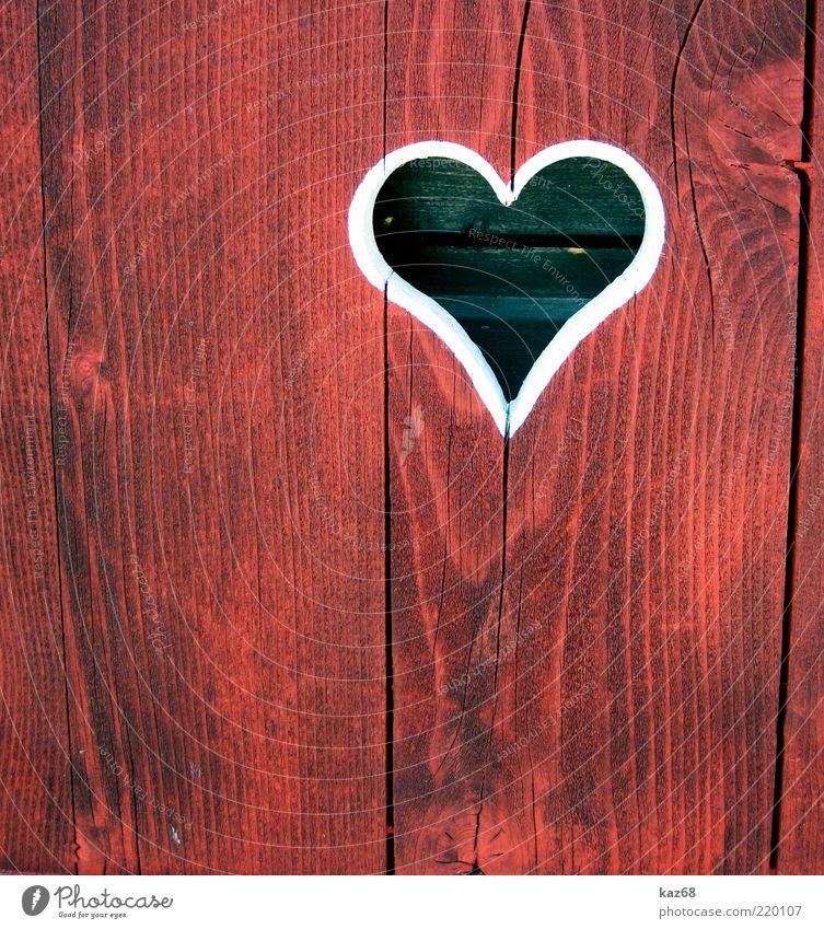 Herzl rot Liebe Gefühle Holz Romantik Freundlichkeit Verliebtheit Bayern Valentinstag Durchblick Zuneigung Maserung herzförmig Landhaus umrandet