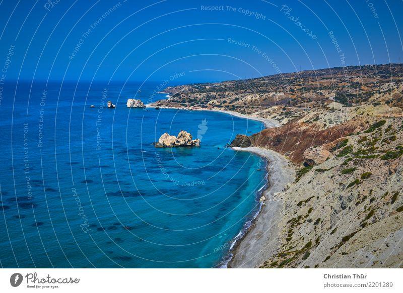 Zypern Natur Ferien & Urlaub & Reisen Sommer Meer Erholung ruhig Ferne Strand Leben Umwelt Küste Tourismus Schwimmen & Baden Felsen Ausflug Zufriedenheit