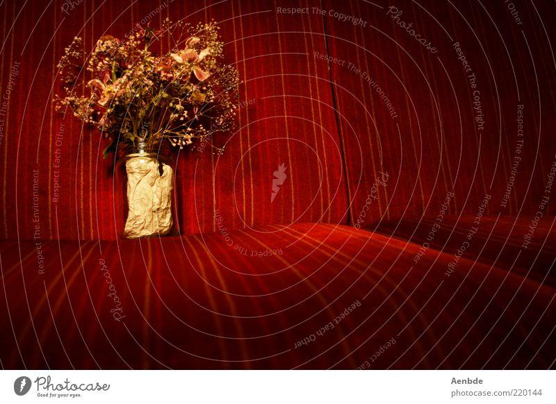 broken flowers schön alt Blume Pflanze rot dunkel Stil retro authentisch Dekoration & Verzierung Sofa Duft Blumenstrauß historisch falsch vertrocknet