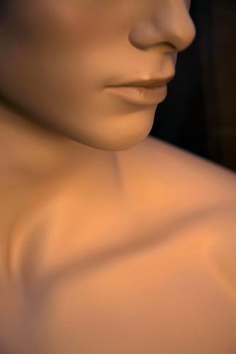 intim Jugendliche nackt schön Junger Mann Erotik Erholung Leben Liebe Gefühle außergewöhnlich Kopf braun maskulin leuchten Körper glänzend