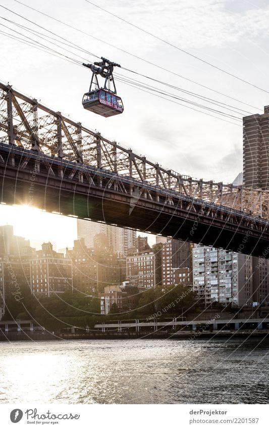 Roosevelt Island Tramway im Sonnenuntergang Ferien & Urlaub & Reisen Tourismus Ausflug Abenteuer Ferne Freiheit Sightseeing Städtereise Flussufer Hafenstadt