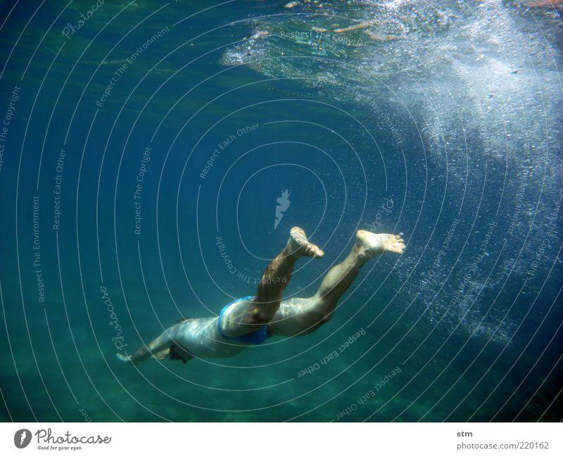 beyond the sea [20] Mensch Ferien & Urlaub & Reisen Jugendliche Mann schön Sommer Sonne Meer Junger Mann Erwachsene Sport Schwimmen & Baden Freiheit Beine Fuß