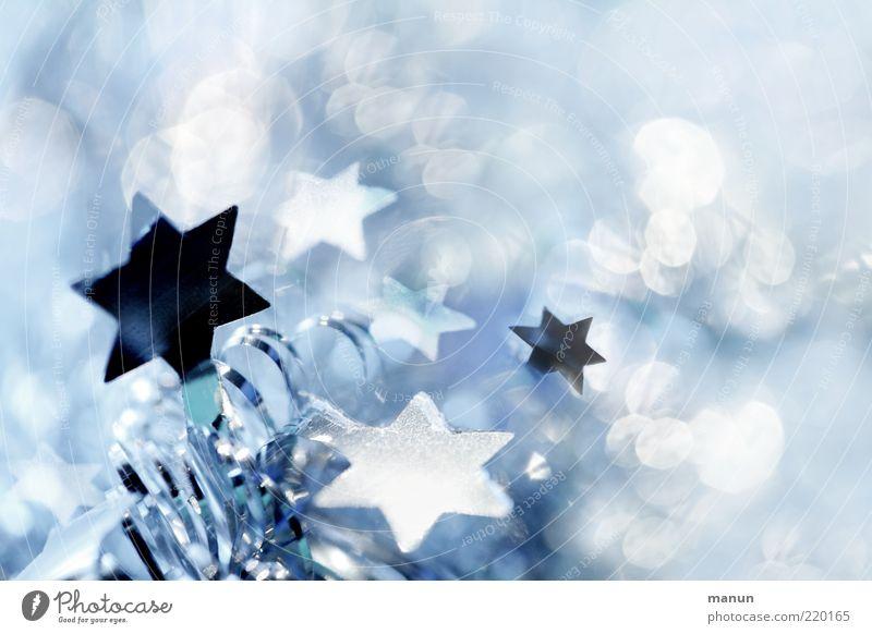 Weihnachtsfunkeln Weihnachten & Advent blau schön weiß kalt Gefühle außergewöhnlich Feste & Feiern Stimmung hell glänzend frisch leuchten Dekoration & Verzierung Fröhlichkeit fantastisch