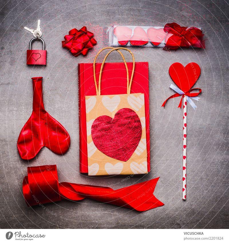 Valentinstag Dekoration Ein Lizenzfreies Stock Foto Von
