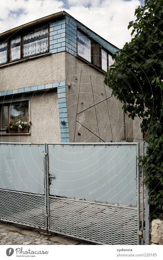 Ostalgie schön ruhig Einsamkeit Leben Stil Fenster träumen Wege & Pfade Umwelt Zeit Fassade Lifestyle Sicherheit ästhetisch Sträucher Wandel & Veränderung