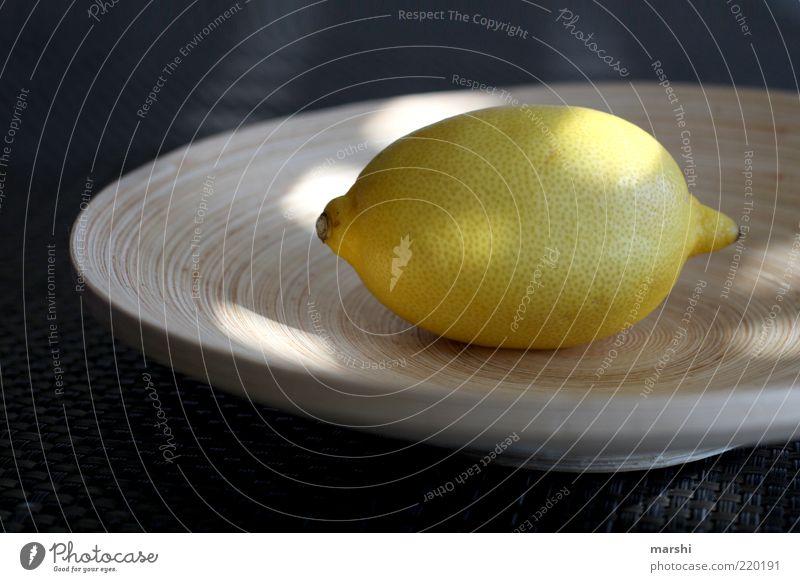 sauer macht lustig Ernährung gelb Gesundheit Lebensmittel Frucht liegen Dekoration & Verzierung Bioprodukte Schalen & Schüsseln Zitrone Zitrusfrüchte Lichtfleck