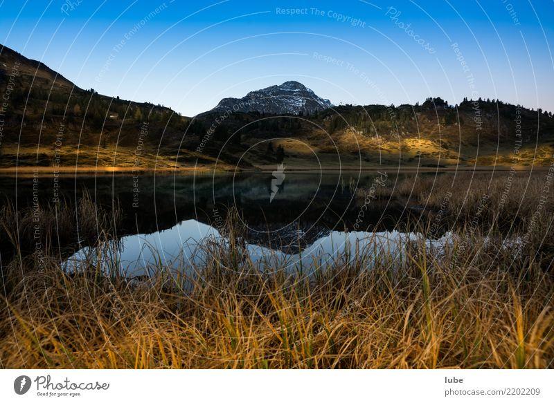 Kalbelesee Umwelt Natur Landschaft Wolkenloser Himmel Herbst Klima Klimawandel Wetter Schönes Wetter Hügel Felsen Alpen Berge u. Gebirge Gipfel