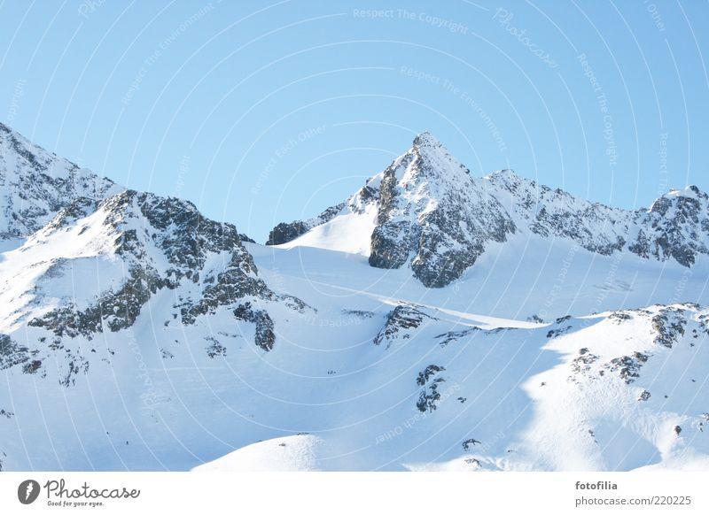 im winter ist's auch schön... Natur Himmel Winter ruhig Schnee Erholung Berge u. Gebirge Landschaft Eis Wetter Umwelt Felsen Frost Klima Alpen Gipfel
