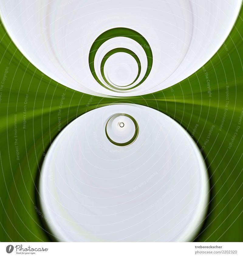 grünes rundes Kreisdesign Farbe Wasser weiß Kunst grau Design Linie hell modern Dekoration & Verzierung Schilder & Markierungen Zeichen Grafik u. Illustration