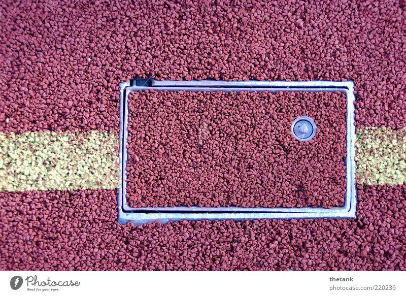 Eingriff Linie Hintergrundbild geschlossen Bodenbelag geheimnisvoll Sport Rahmen Strukturen & Formen Bildausschnitt Gummi Versteck Verschlussdeckel verborgen Öffnung Luke Makroaufnahme