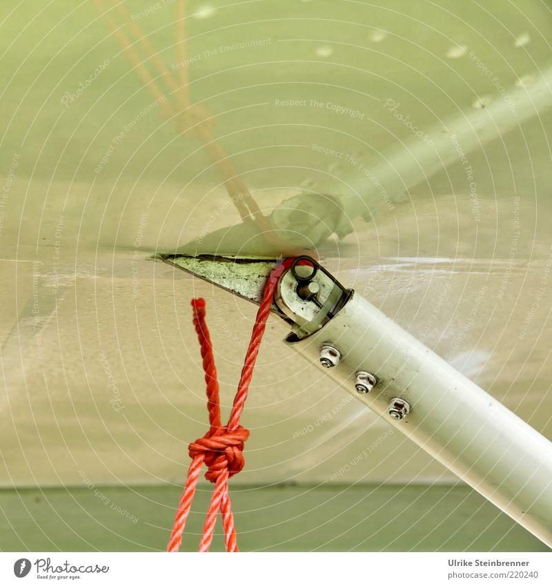 Gestänge Seil Flugzeug Passagierflugzeug Fluggerät Metall Kunststoff hängen Zusammenhalt Strebe Ultraleichtflugzeug festbinden abstützen orange Ecke Spitze