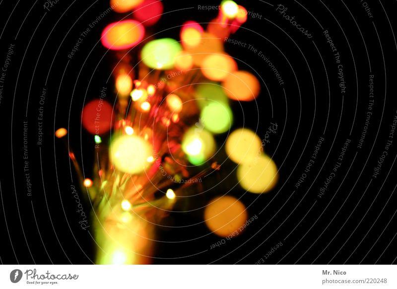 lichterstrauß Kunst gelb Explosion Lichtspiel Feuerwerk Streulicht Farbfleck spritzen mehrfarbig Lichttechnik Kitsch Glasfaser Lichterscheinung